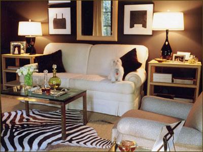 Wonderful Living Rooms Cowhide Rugs